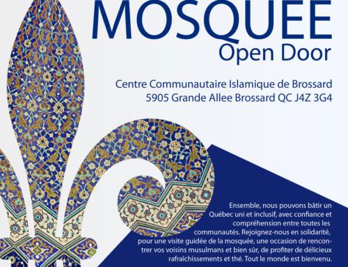 Portes Ouvertes, le dimanche 26 février au Centre Communautaire Islamique de Brossard