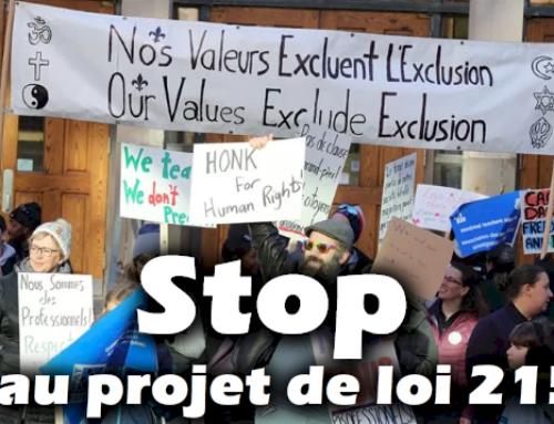 Aidez-nous à retirer le projet de loi québécois islamophobe ‼