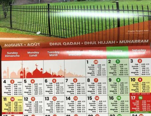 Calendrier avec Hijri, Adhan & Iqamah