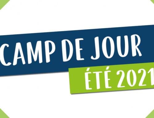 Inscriptions et promotions du Camp de jour 2021